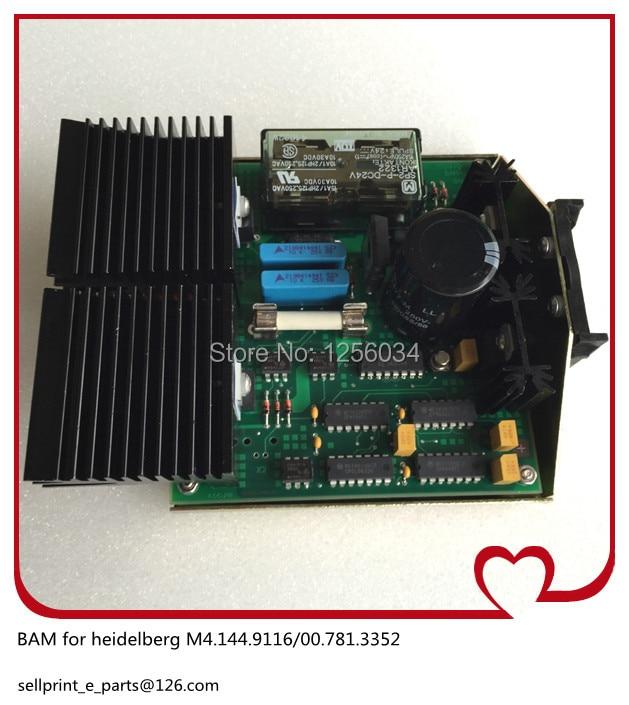 BAM Heidelberg card BAM-2 main motor brake drive plate M4.144.9116/00.781.3352 BAM board 91.144.9116, 00.781.3352
