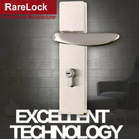 Rarelock рождественские принадлежности стальной современный дверной замок с ручкой для женщин Ванная комната Спальня сумка Межкомнатная дере...