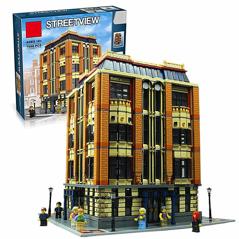 Nouveau 7968 pièces véritable série MOC l'apple University Set blocs de construction briques éducatifs enfants jouets