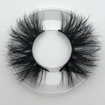 Mikiwi 25mm Long 3D mink lashes E01 extra length mink eyelashes Big dramatic volumn eyelashes strip thick false eyelash