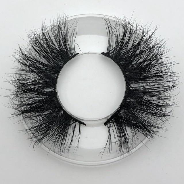Mikiwi 25mm Long 3D mink lashes E01 extra length mink eyelashes Big dramatic volumn eyelashes strip thick false eyelash