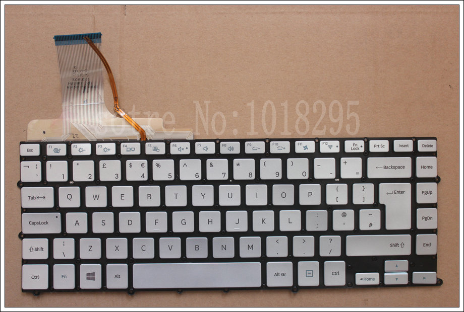 NEW Laptop Keyboard without Frame Backlit New for Samsung NP900X4B NP900X4C NP900X4D UK BACKLIT Silver BA5903648A laptop keyboard for acer silver without frame arabic ar v 121646cs2 ar aezqsq00110