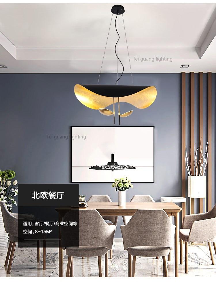 Lámpara de techo estilo ondulado reflejos dorados