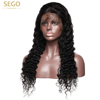 SEGO Silk Base Full Lace Wigs Human Hair Deep Wave Peruvian Remy Glueless Wigs for Women Full Hand Made 4*4 Silk Top Wig