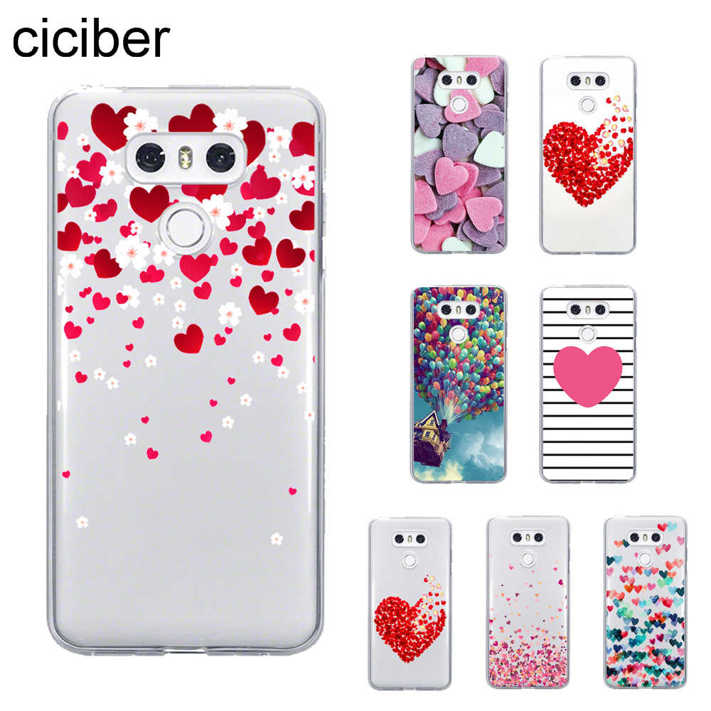ciciber Design love Heart Cover For LG G7 G6 G5 V40 V35 V30 ThinQ Phone Cases For LG K8 K10 2017 2018 K9 K11 Plus Coque Soft TPU