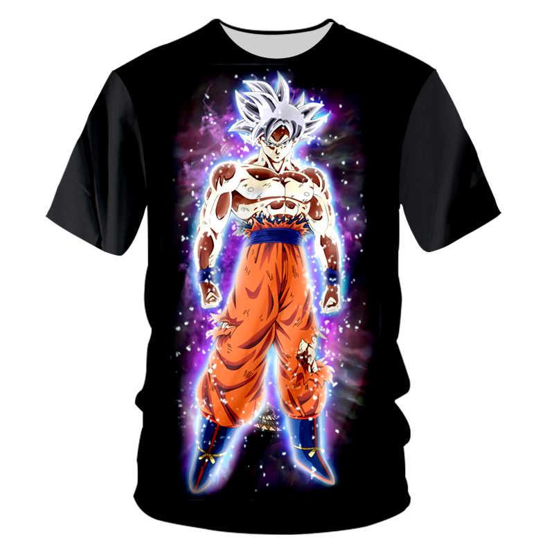 Ogкб новая футболка Harajuku Мужская забавная печать Супер Саян Гоку 3d футболка с О-образным вырезом человек хип хоп Уличная панк короткий рукав футболки