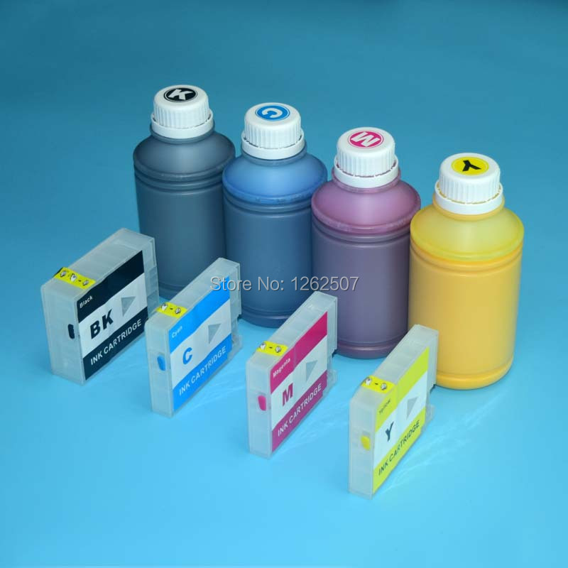 Pigment ink and refillable cartridge For Canon 2700 chip use for Canon Maxify iB4070 MB5070 MB5370 printer for canon ink 500ml 2 pcs lot