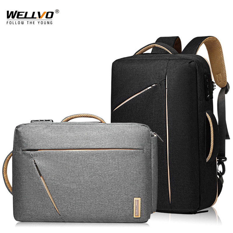 Men Anti Theft Backpack Business School Back Pack Laptop Backpacks Waterproof Bags Boy Travel Office Bag For Man Daypack XA273ZC