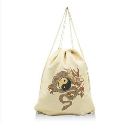 Высокое качество хлопок и лен синий/хаки даосский сумки монахи Шаолинь сумка Тай Чи даосизм рюкзак Единоборства сумки