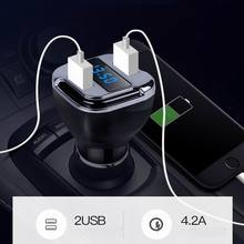 New 2 in 1 Car Charger Locate E5 GPS Tracker Quick Find Car Dual USB Adapter with LED Digital Display for iPhone Samsung Pad