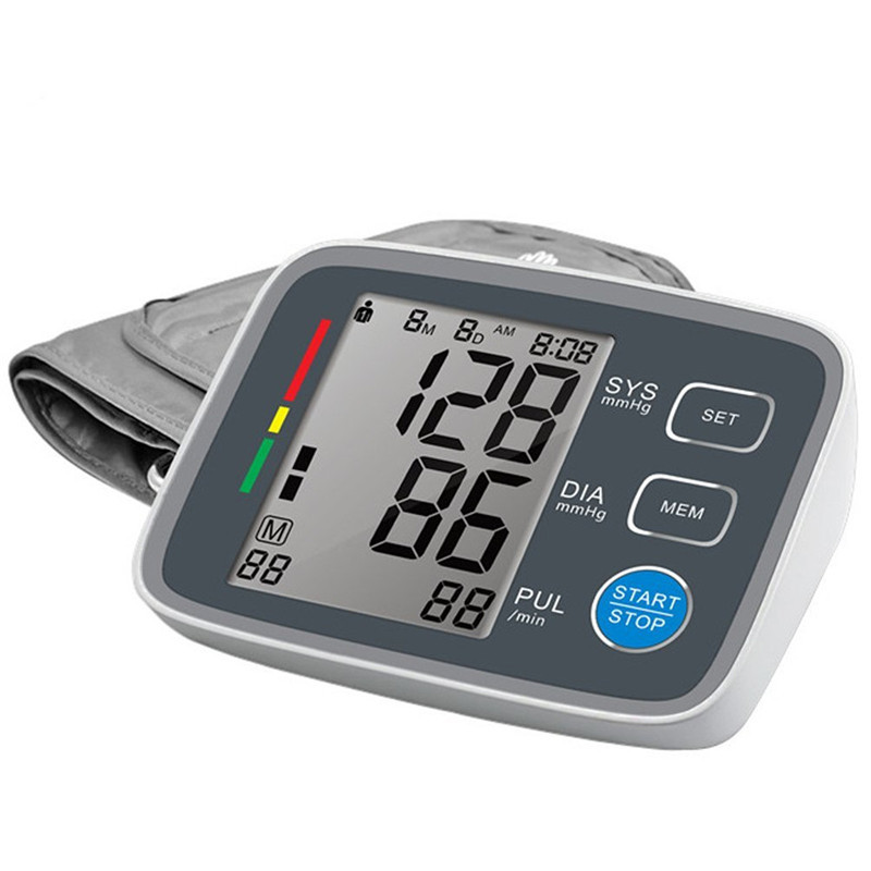 Digital LCD Blood Pressure Monitor Heart Beat Meter Machine Large Screen Automatic Sphygmomanometer Tonometer Health Care aputure digital 7inch lcd field video monitor v screen vs 1 finehd field monitor accepts hdmi av for dslr