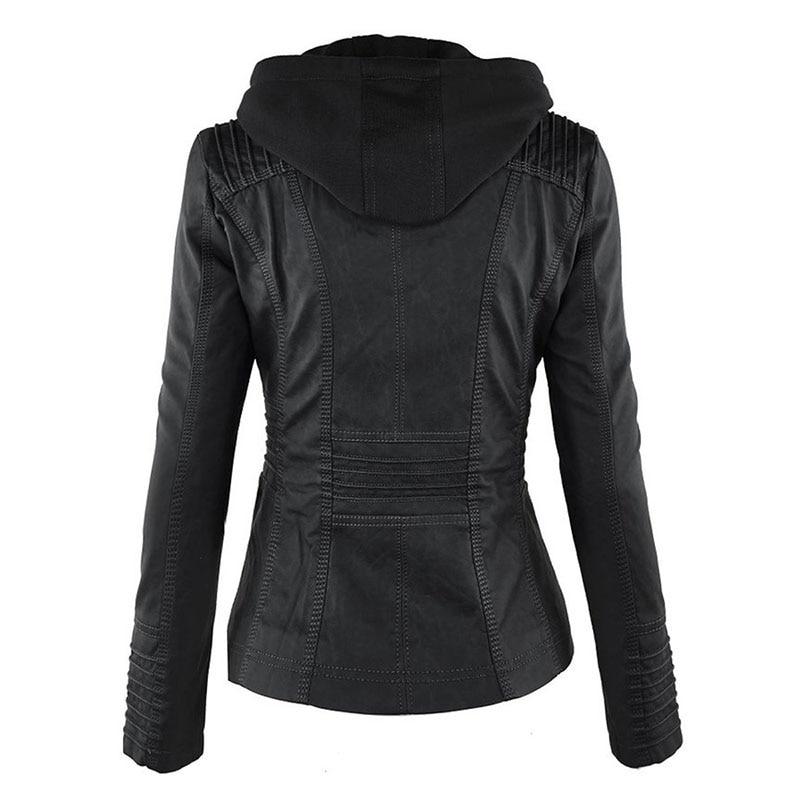 HTB1ln0RaYr1gK0jSZFDq6z9yVXaL Faux Leather Jacket Women 2021 Basic Jacket Coat Female Winter Motorcycle Jacket Faux Leather Suede PU Zipper Hoodies Outerwear