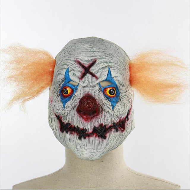 Aliexpress com : Buy Scary Latex Halloween Mask Variation Mouth Clown  Cosplay Full Face Horror Masquerade Adult Room Escape Ghost Mask Party  Supplies