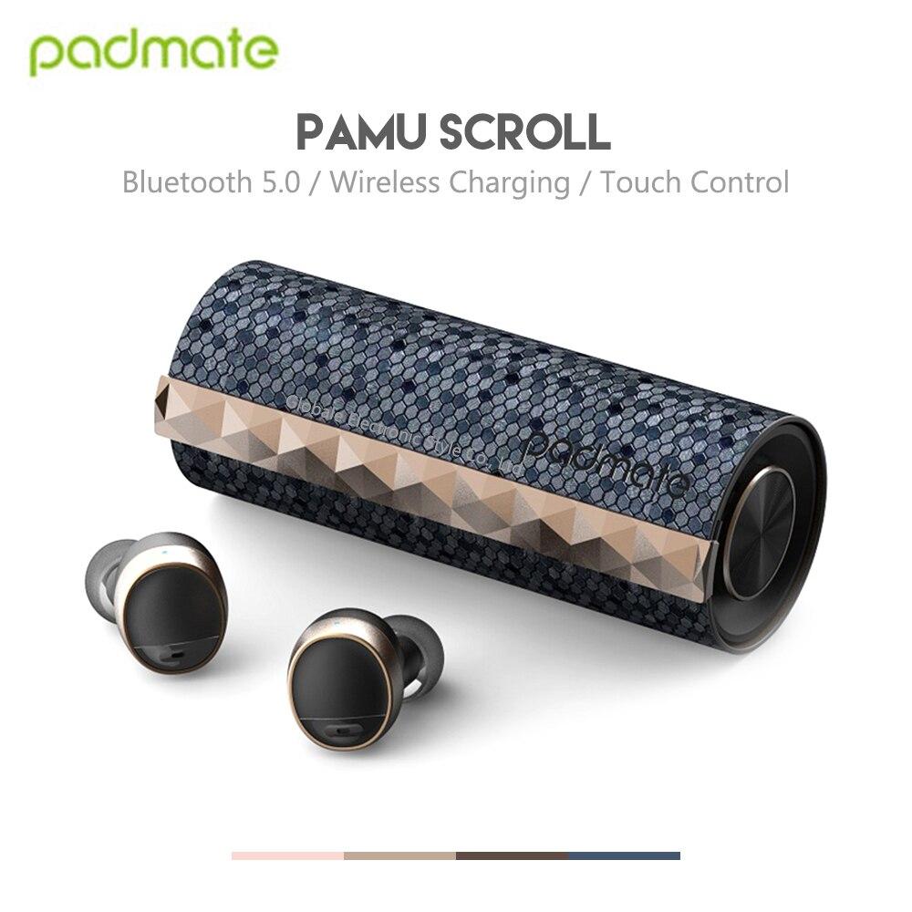 Original Padmate PaMu IPX6 Fones de Ouvido Sem Fio Bluetooth Fones De Ouvido À Prova D' Água Controle de Toque de Rolagem