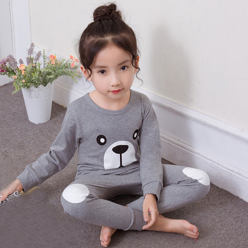 2019 Autumn Winter Kids Pajamas Sleepwear Sets Cotton Cartoon T-shirt+pants 2pcs Nightwear Baby Girls Clothes Pyjamas Kids Suits