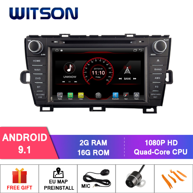WITSON Android 9 1 System GPS Navigation Car DVD Player GPS For TOYOTA PRIUS Left Driver