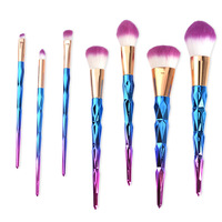 7Pcs Professional Kabuki Makeup Brushes Diamond Shape Handle Powder Foundation Eyeshadow Make Up Brushes Set