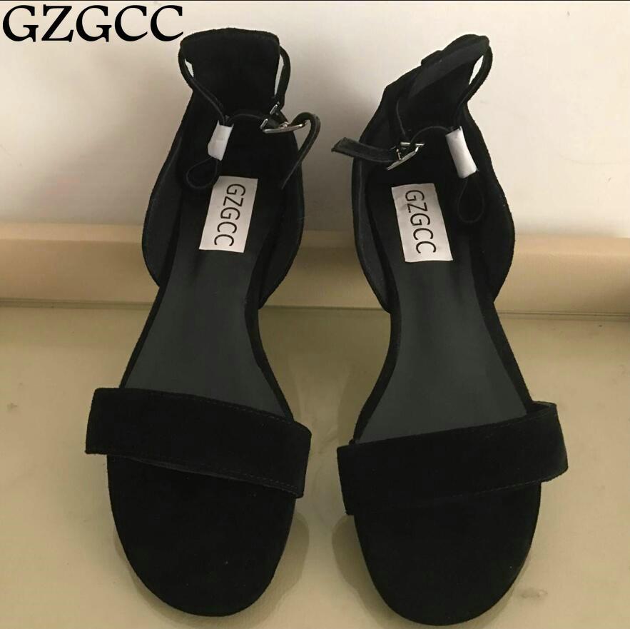 GZGCC 2017 hot summer leisure female sandals comfortable leather women shoes