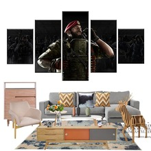 5 Piece Rainbow Six Siege Maestro and Alibi Soldier Pictures Video Game Poster Canvas Art Wall Paintings for Home Decor