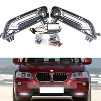 Direct Fit 10W High Power LED Daytime Running Lights DRL Kit for 2011 up BMW F25 X3 Car Driving Fog light lamps