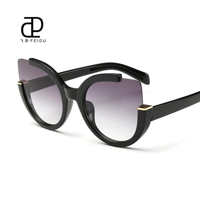 319d54ac0616 FEIDU Fashion Oversized Cat Eye Sunglasses Women Brand Designer Multicolor Sun  Glasses For Women Driving Oculos De Sol Feminino