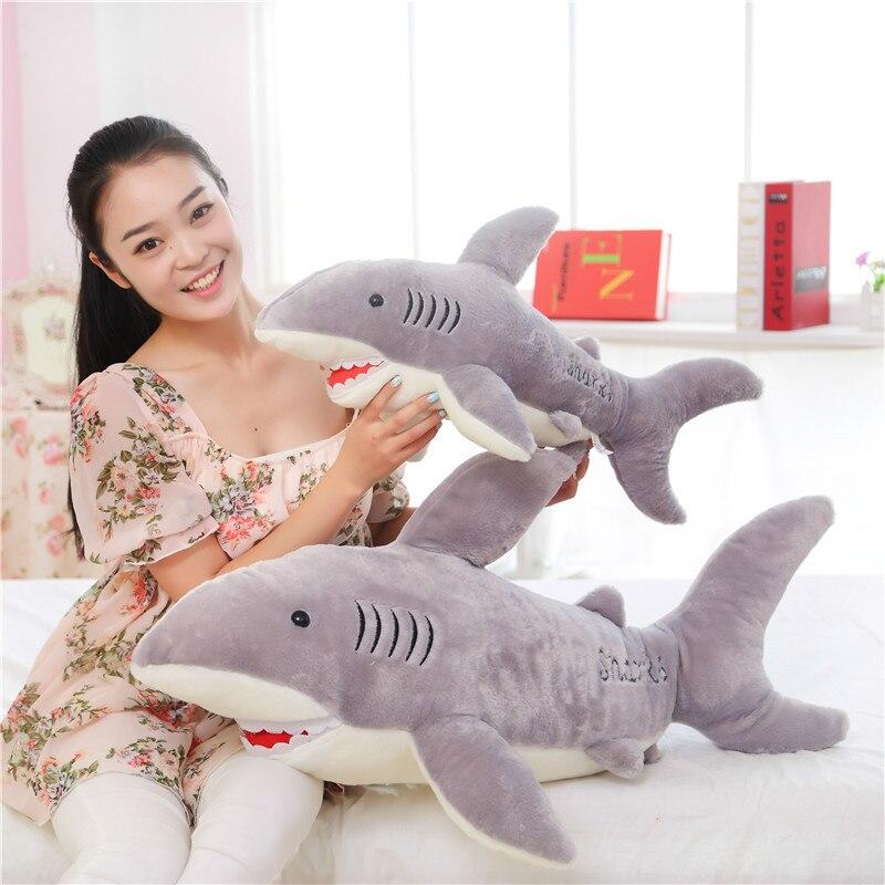 110 cm/1 m pour fille ami jouet drôle pour cadeau pour la journée des enfants Super Likable requin en peluche jouet pour enfants mode offre spéciale