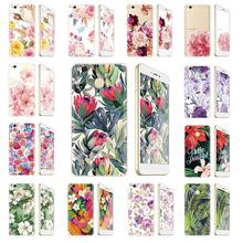 "Flower Phone Case For Xiaomi Redmi 4X 4 X Pro Snapdragon 435 Octa Core 5.0"" HD 4100mAh Soft Silicone Back Cover(China)"
