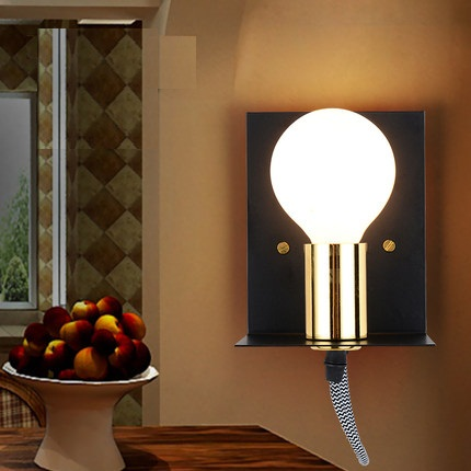 American Loft Style Iron Vintage Wall Light Fixtures Industrial Wind LED Wall Sconce For Bedside Wall Lamp Home Lighting guess ремень