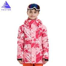 Girls Ski Suit -30 Children Snow Coats Winter Clothing Skiing Snowboarding Pants Waterproof Thermal Sets