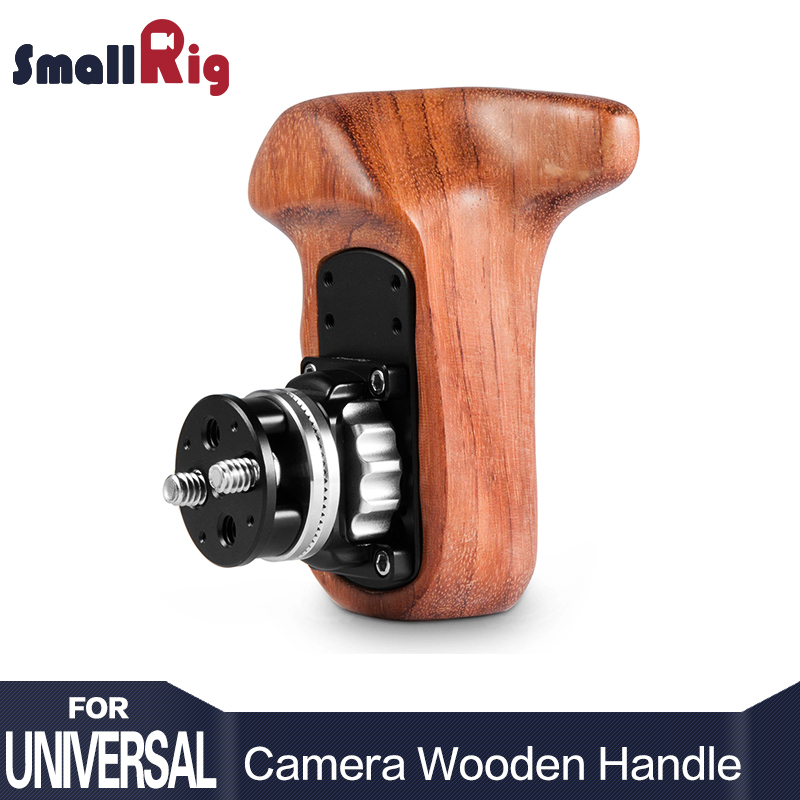 SmallRig DSLR Camera Handle Grip Right Side Wooden Grip with Arri Rosette Bolt On Mount for