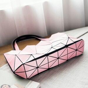 Image 4 - Moda pembe sac bayan çantası elmas Tote geometrik kapitone omuz çantaları kadın çanta kadınlar için 2020 bolsa feminina ana kesesi