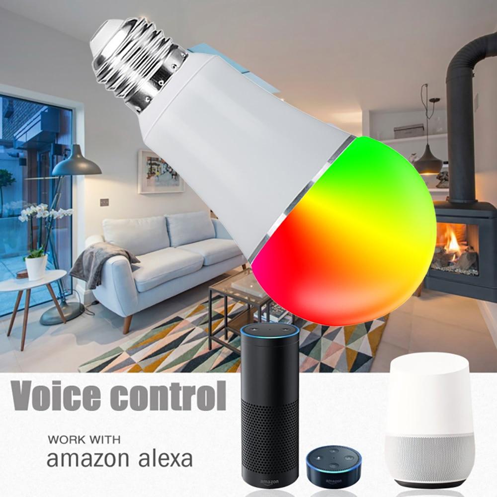 3 Pack Led Smart Wifi ampoule 16 millions RGB couleur lampe de scène Compatible avec Alexa Google Home Phone App 60 W équivalent - 3