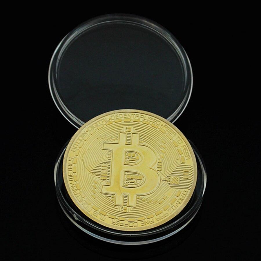 Bitcoin oro puro cobre artesanía regalo 2016 oz 999 fine cobre plateado bitcoin física moneda con regalo caja