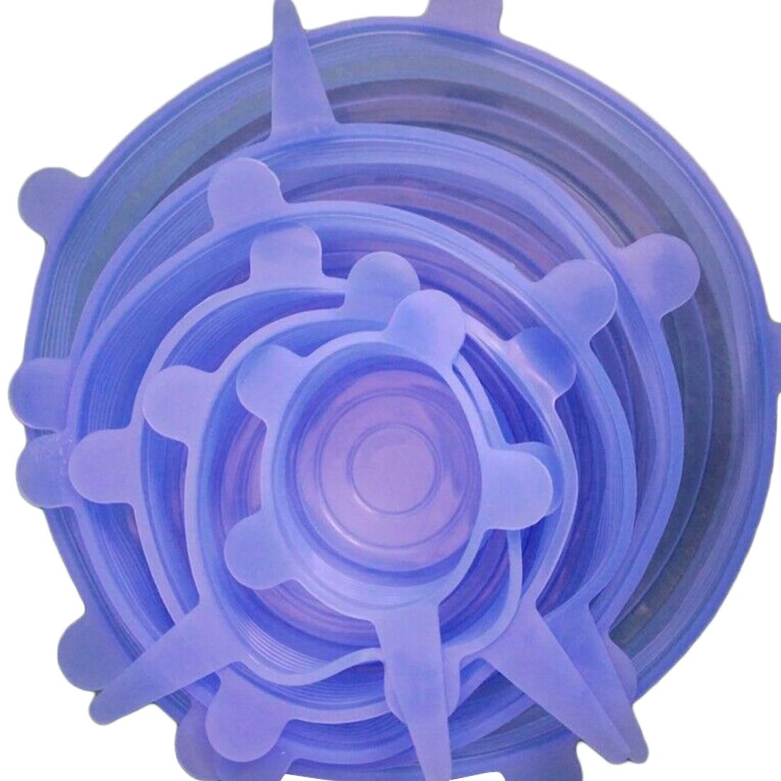 Lid-mangkuk Pot Lid-silikon Stretch Lids Silicone Cover Pan Dapur vakum Tudung Sealer Universal Silicone Saran Makanan Bungkus