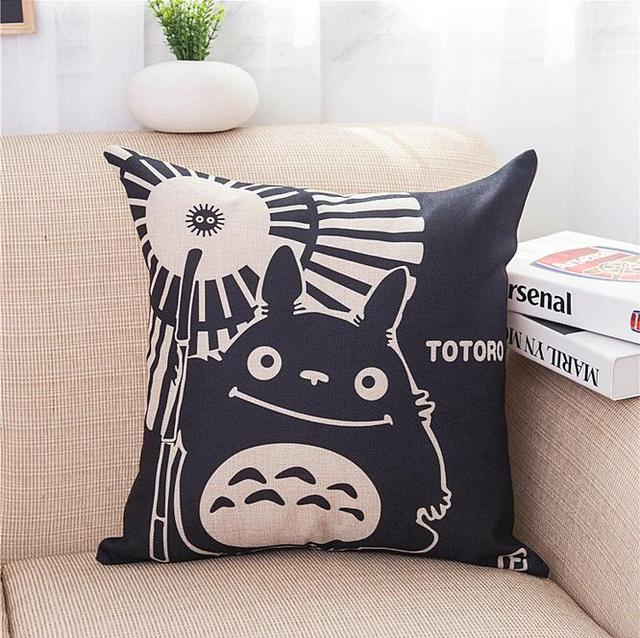 Studio Ghibli My Neighbor Totoro – Cotton Plush Cushion Pillow Cover 45*45cm (2nd Edition)- 2 Styles Available