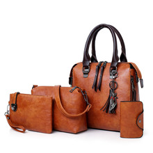 ETONTECK New 4pcs/Set Women Composite Bags High Quality Ladies Handbags Female PU Leather Shoulder Messenger Bags Tote Bag Bolsa