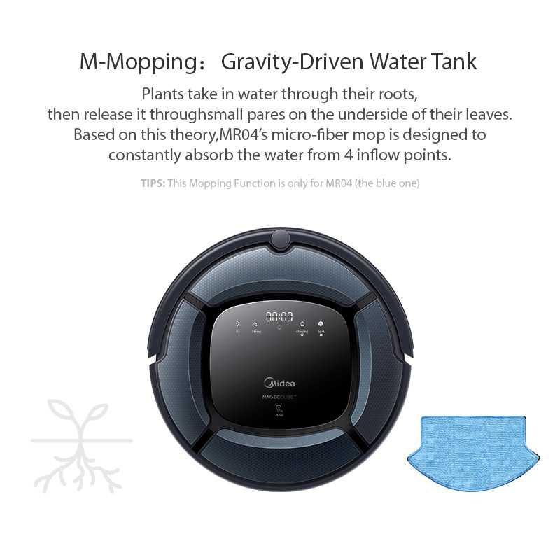 Midea Intelligente robot aspirateur MR04 2in1 pour Vide & Mop, Carte de Navigation, Puissant Aspiration, lampe uv avec 4 Modes, Robot Aspirador - 4