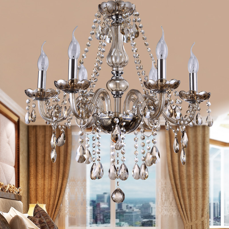 Classic Murano Chandeliers For Luxury Hotel In Florence: Modern Crystal Chandelier Lighting Luxury Cognac Glass