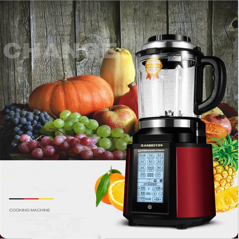 220V Multifunctional Electric Blender Mixer Juicer Machine Soybean Milk Chopping Slicing With Heating Function And English Key glantop 2l smoothie blender fruit juice mixer juicer high performance pro commercial glthsg2029