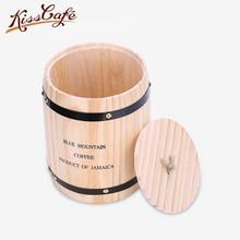 450g/10L Coffee Bean Storage Chests Barrel Tea leaves Dry Grain Fruit Milk Coffee Powder Kitchen Storage Can Sealing Can