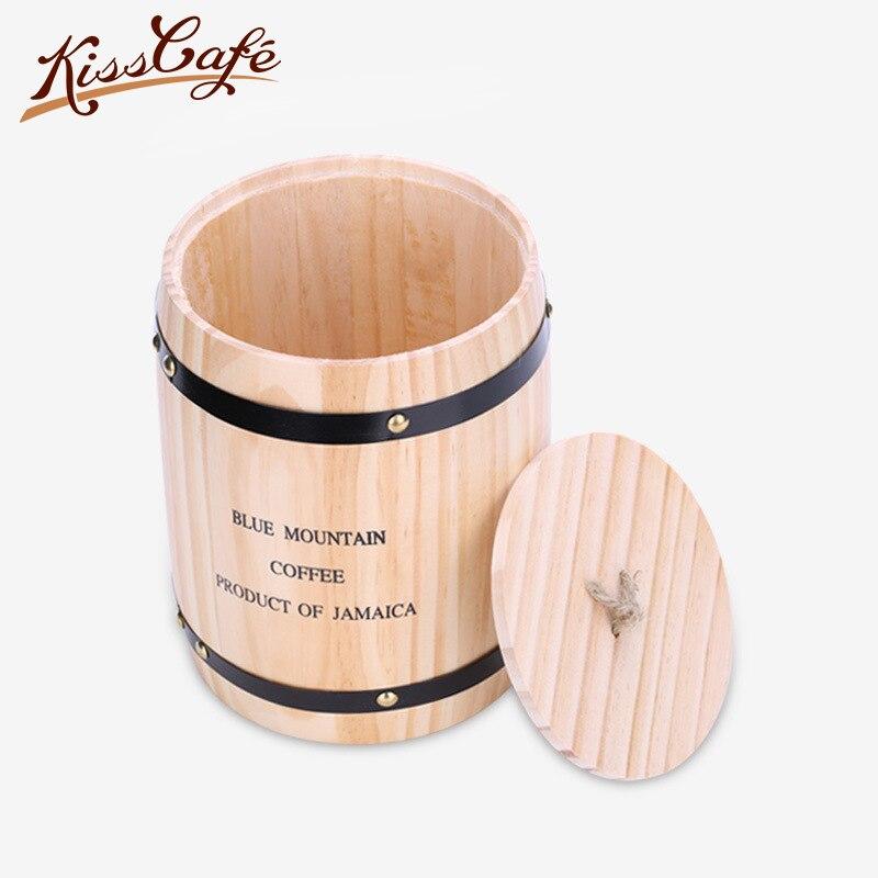 450g/10L café en grains stockage coffres baril thé feuilles Grain sec fruits lait café en poudre cuisine stockage peut sceller peut