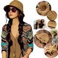 Nuevo Estilo de Sombreros de Sol Estilo Casual Primavera Verano Playa de Paja Sombrero para el Sol para Las Mujeres de Moda de Rayas de Colores