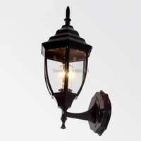 Archaize Outdoor Lamp Courtyard European style Garden(Black)Waterproof Wall Lamp
