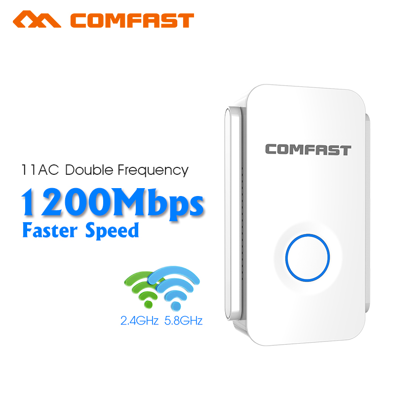 1200Mbps Wireless WiFi Repeater WiFi Signal Amplifier Wireless Router Wi Fi Range Extender Expand Booster AP Comfast CF-WR752AC цена