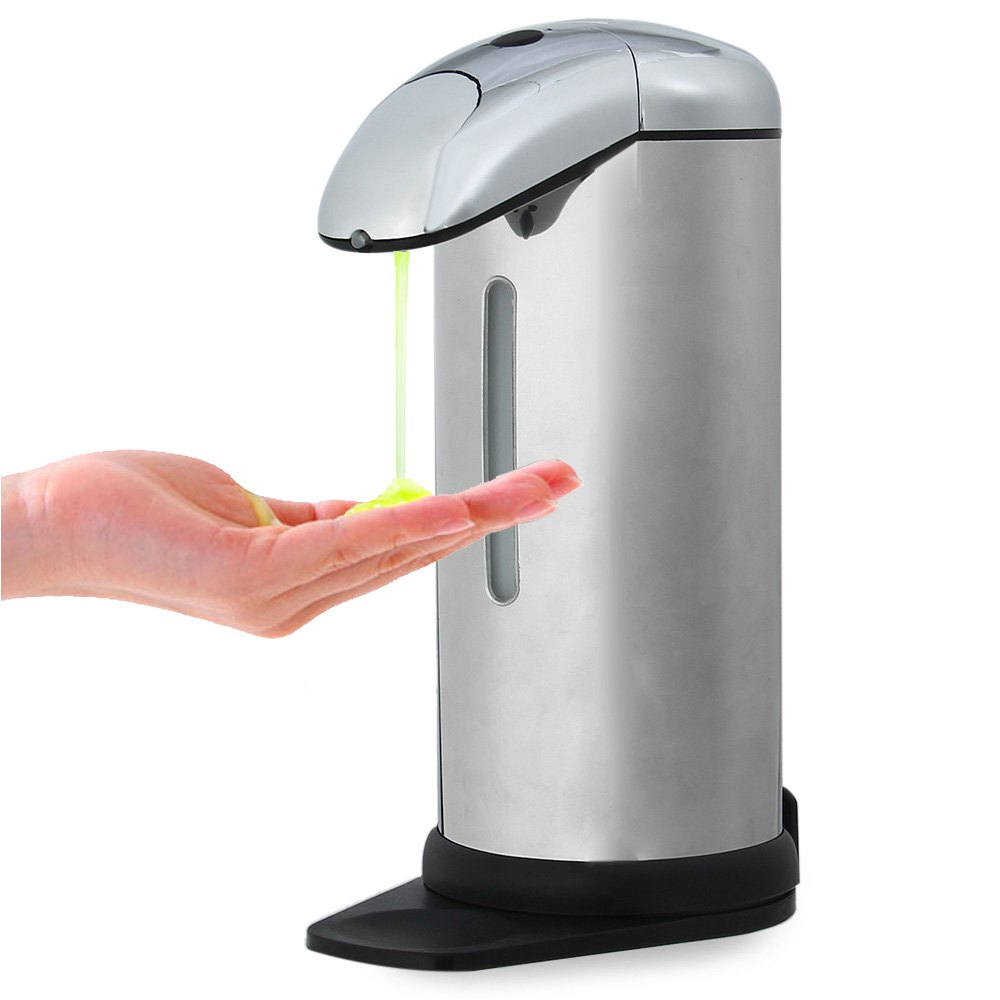 Bathroom Products AD - 01 500ml Stainless Steel Automatic Soap Dispenser Touchless Sanitizer Dispenser Convenient And Quick