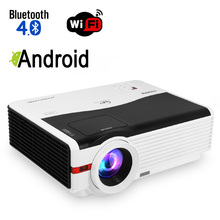 CAIWEI Android Blurtooth Wifi LED Projector 1080p HD Home Movie Video Smart Phone TV PC Games LED Multimedia VGA USB HDMI