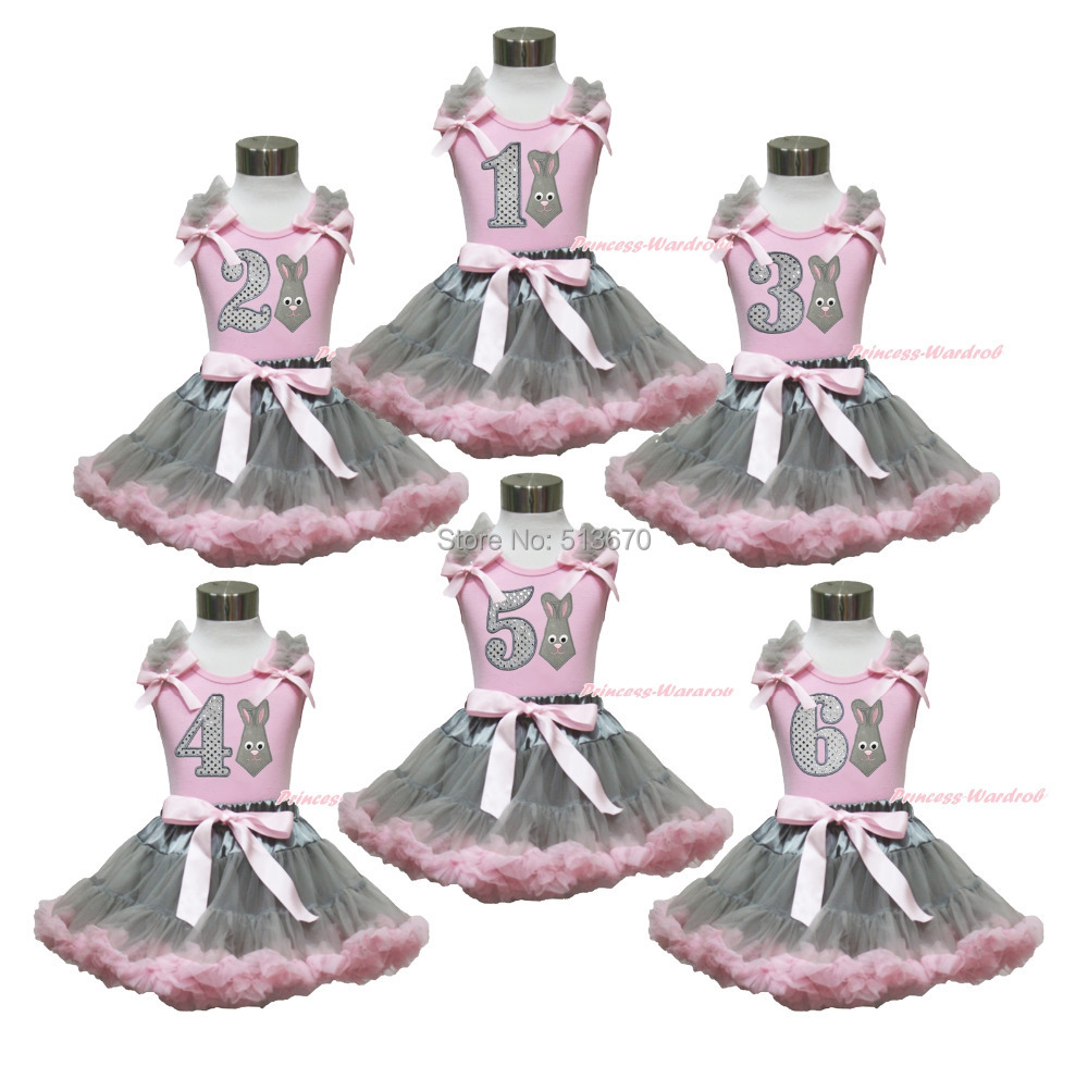 Easter Bunny Neckerchief Pink Top 1ST 2ND 3RD 4TH 5TH 6TH Birthday Gray Skirt Set 1-8Y MAPSA0418 агхора 2 кундалини 4 издание роберт свобода isbn 978 5 903851 83 6