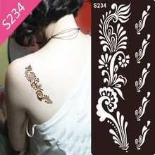 1Pc Tattoo Airbrush Stencils For Painting Women Henna Stencil Template Mixed Designs Tattoo Accessories