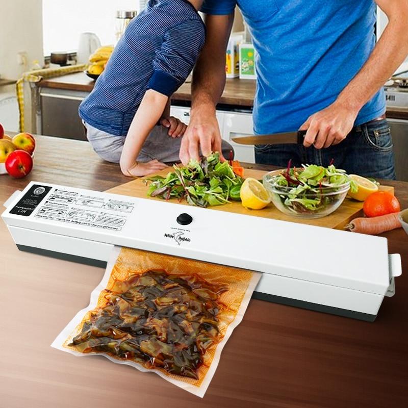 Film-Sealer Food-Vacuum-Sealer-Packaging-Machine Vacuum-Packer Household 110V 220V 15-Bags