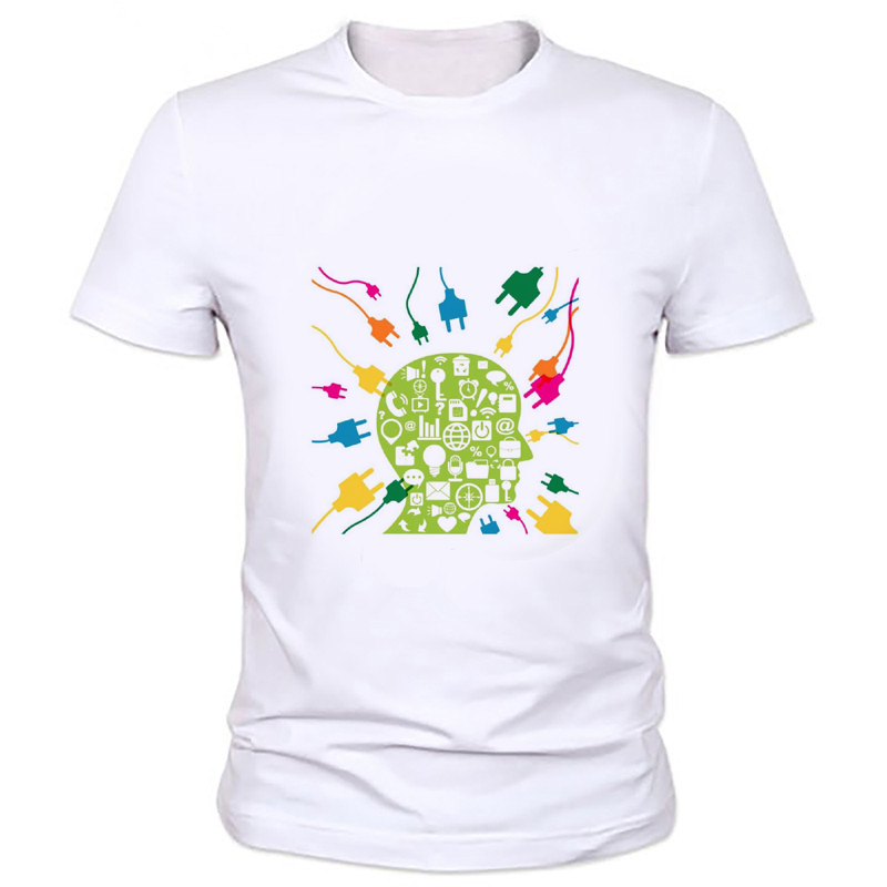 Evolution Of A Gamer Geek Gift Funny Mens T Shirt Geek brain thinking unlimited image printing T-shirt Big Bang Theory Tee59-19#